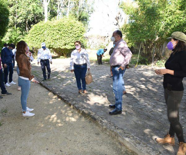 RECORREN PARQUE ZAZIL DE CHETUMAL PARA AVANZAR EN PROYECTO DE ATRACCIÓN TURISTICA